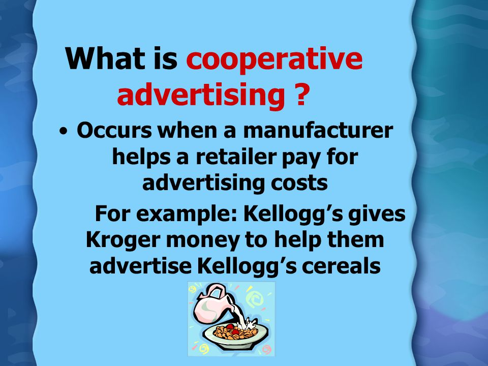What is cooperative advertising