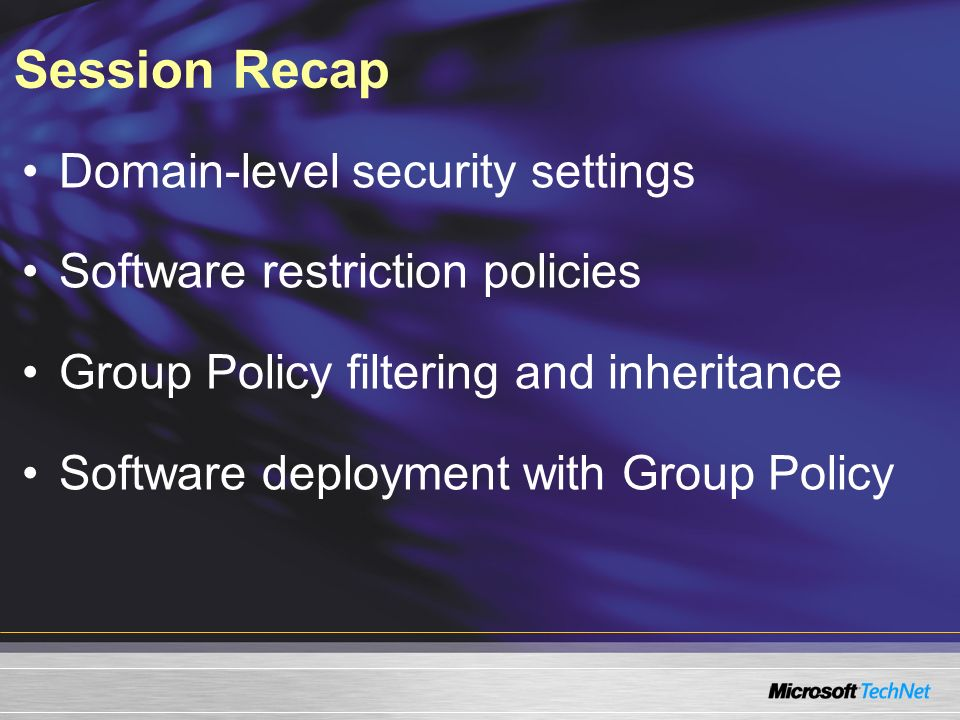 Session Recap Domain-level security settings