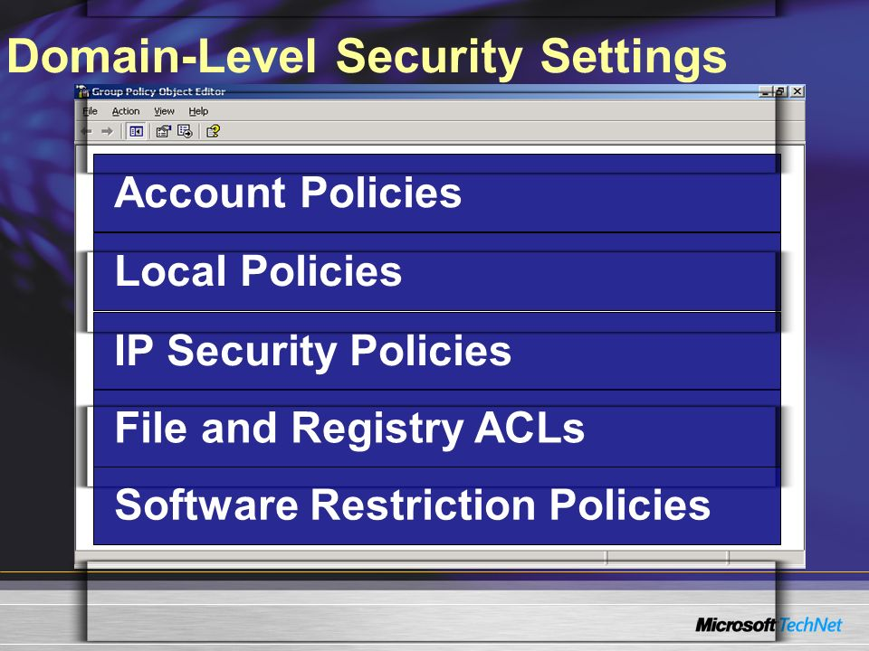 Domain-Level Security Settings