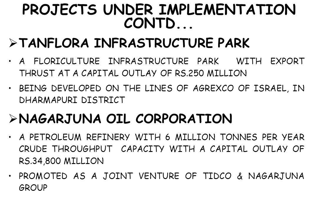 PROJECTS UNDER IMPLEMENTATION CONTD...