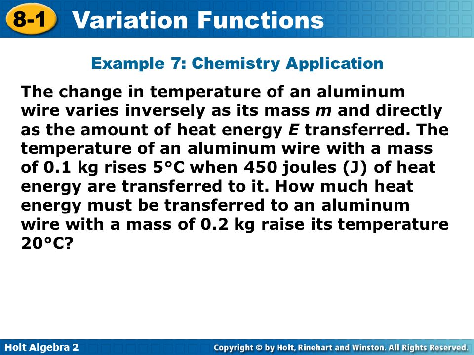 Example 7: Chemistry Application