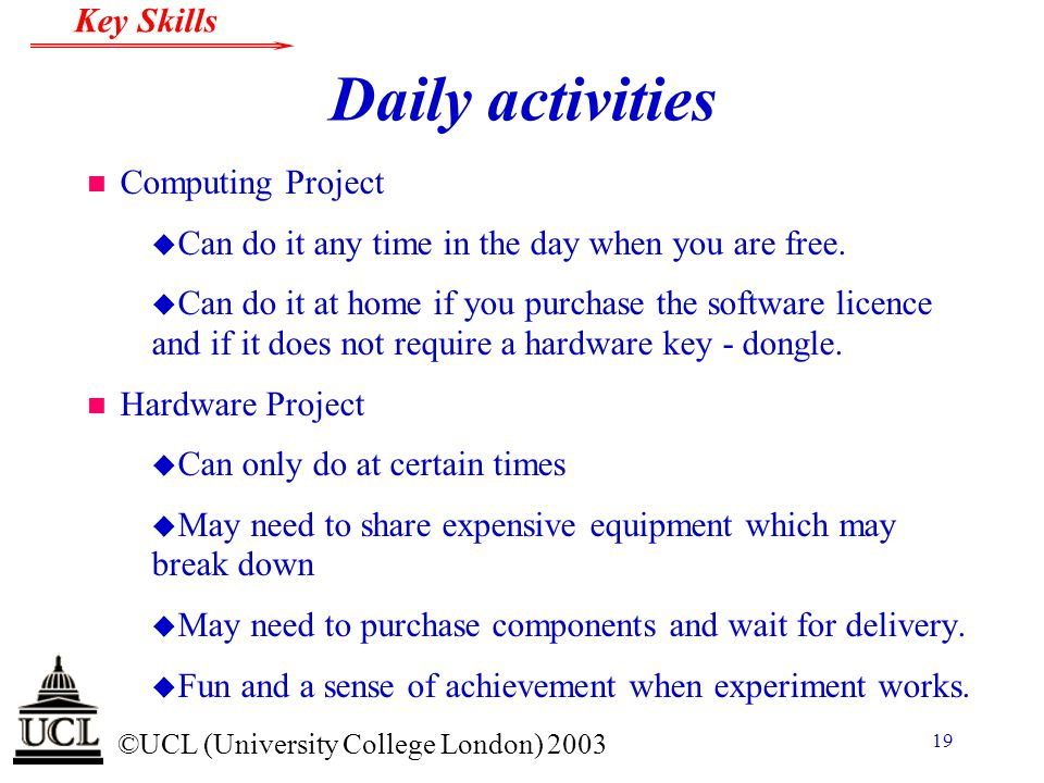 Daily activities Computing Project