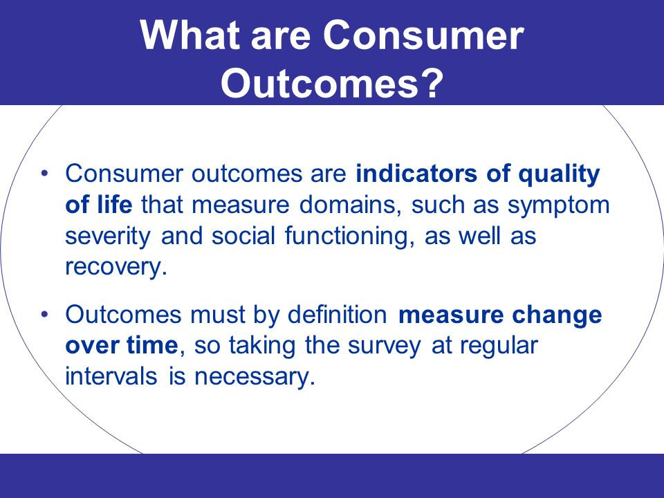 What are Consumer Outcomes
