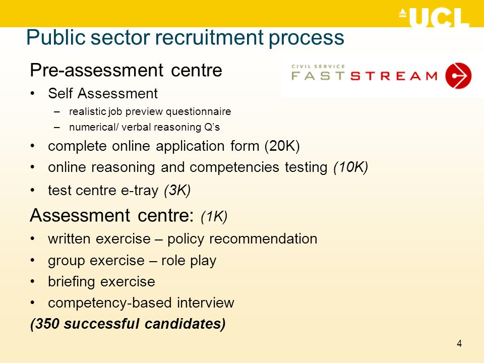 Public sector recruitment process