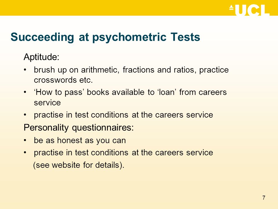 Succeeding at psychometric Tests