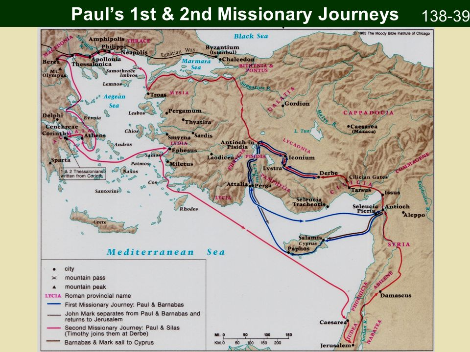 Paul's 1st & 2nd Missionary Journeys