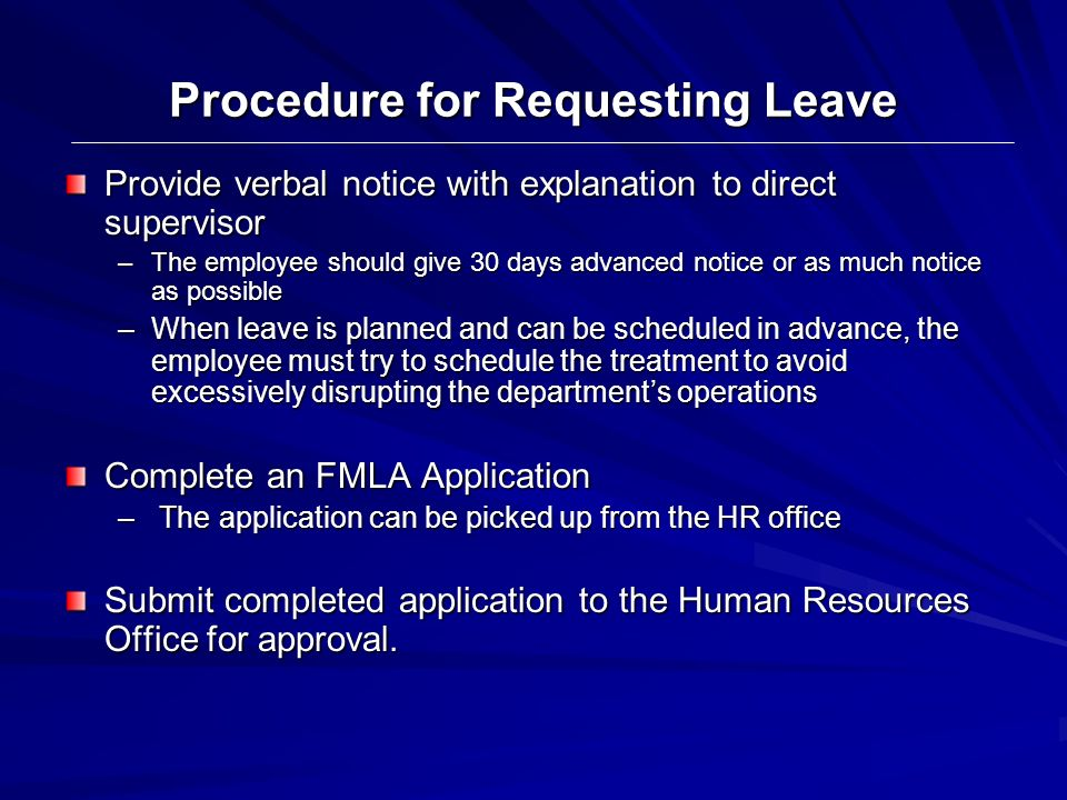 Procedure for Requesting Leave