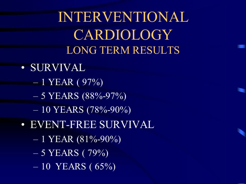 INTERVENTIONAL CARDIOLOGY LONG TERM RESULTS