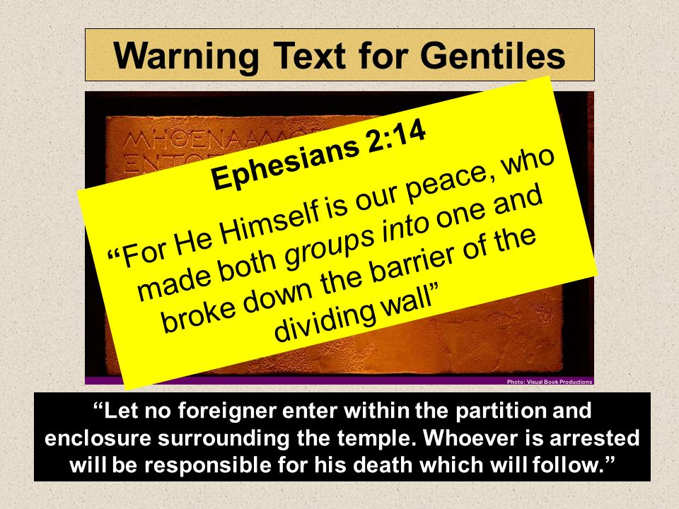 Warning Text for Gentiles