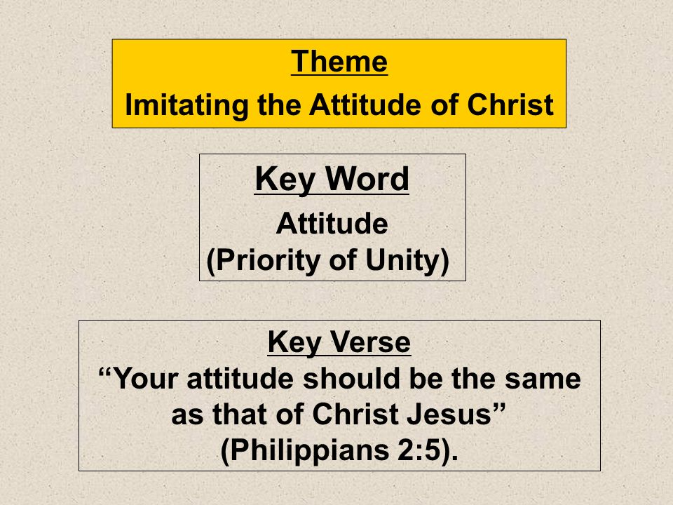 Imitating the Attitude of Christ