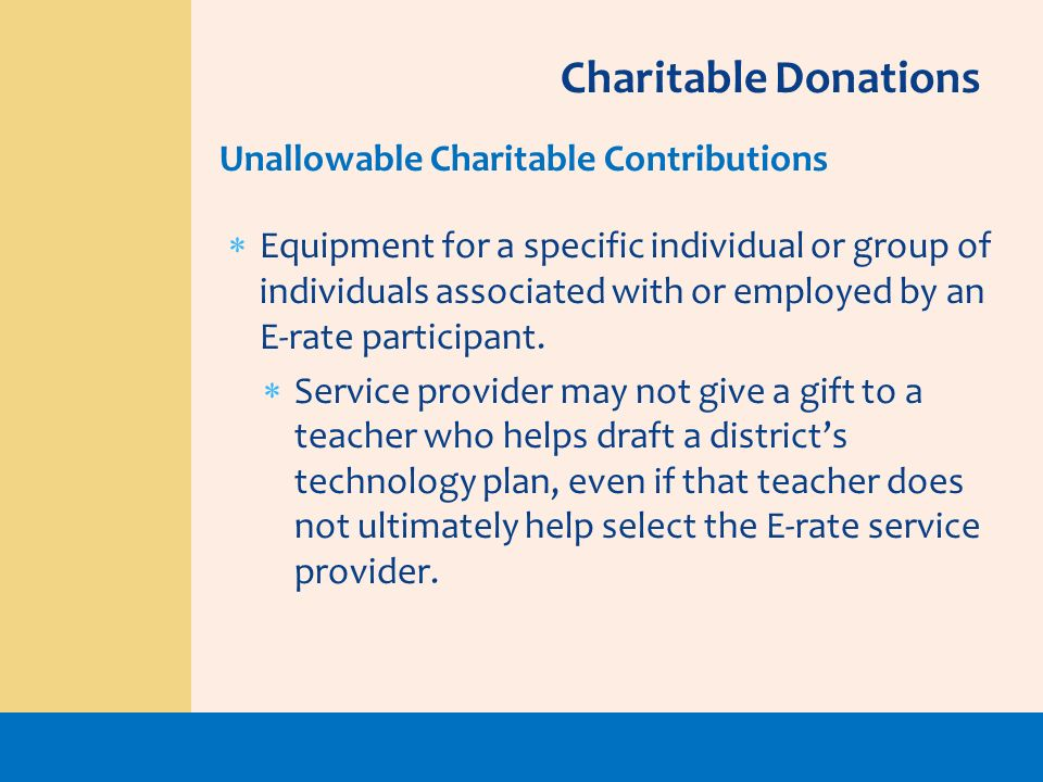Charitable Donations Unallowable Charitable Contributions