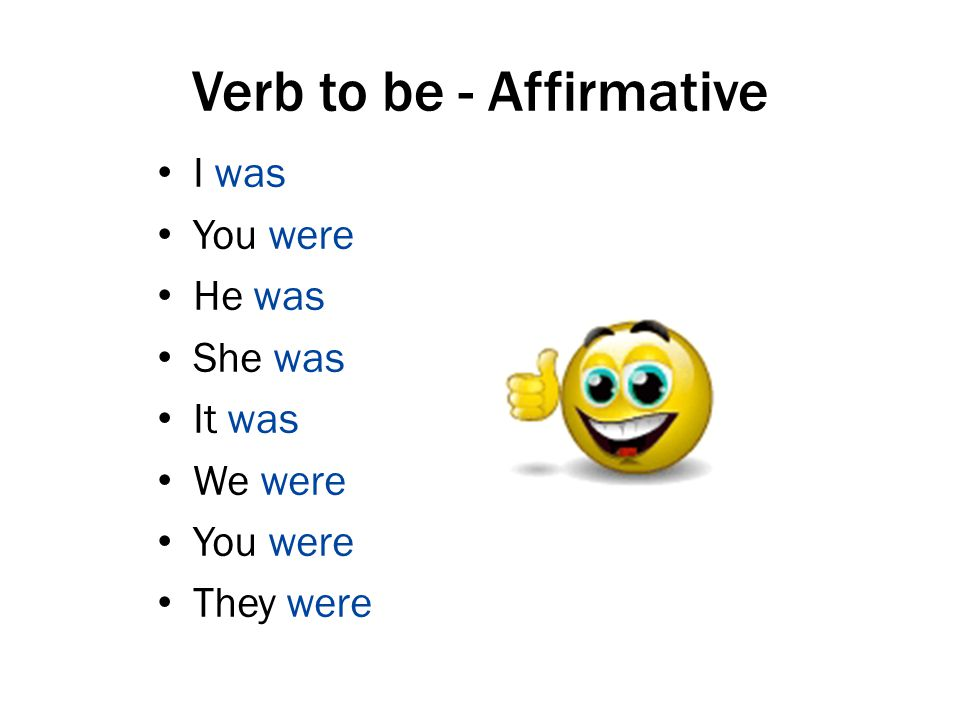 Verb to be - Affirmative