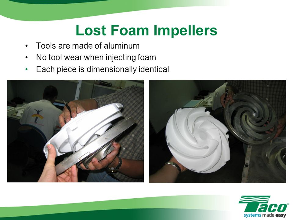 Lost Foam Impellers Tools are made of aluminum