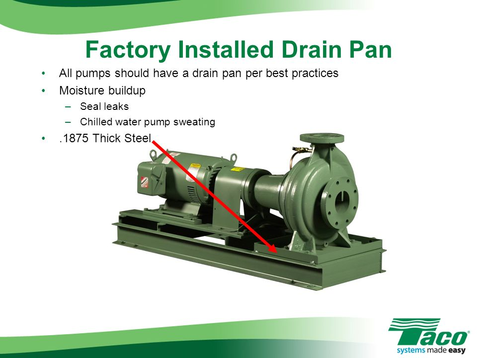Factory Installed Drain Pan