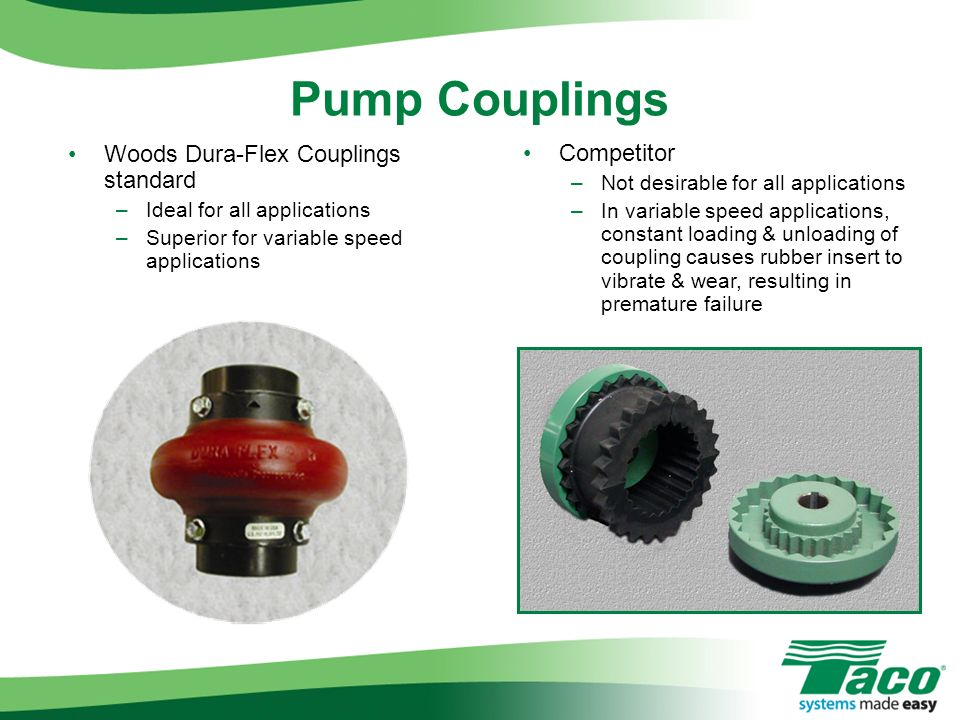 Pump Couplings Woods Dura-Flex Couplings standard Competitor