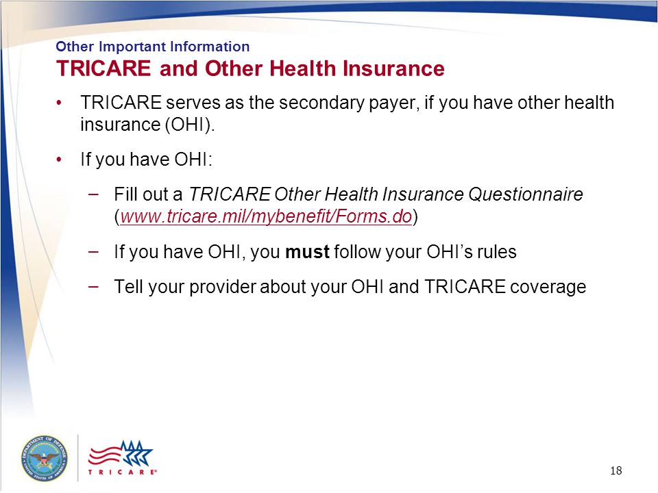 TRICARE and Other Health Insurance