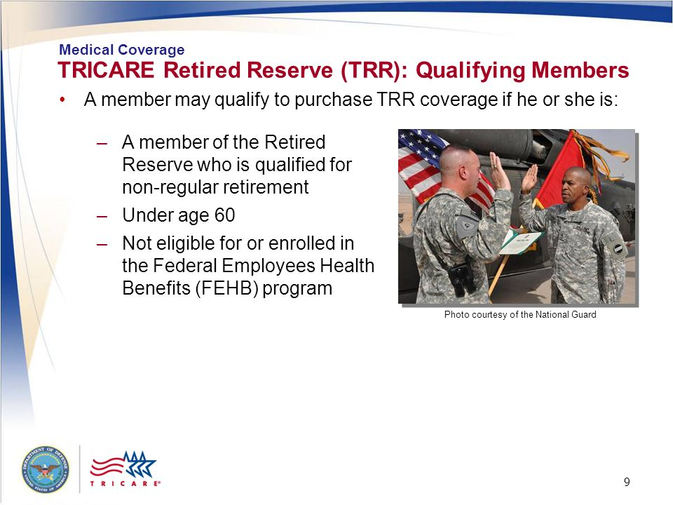 TRICARE Retired Reserve (TRR): Qualifying Members