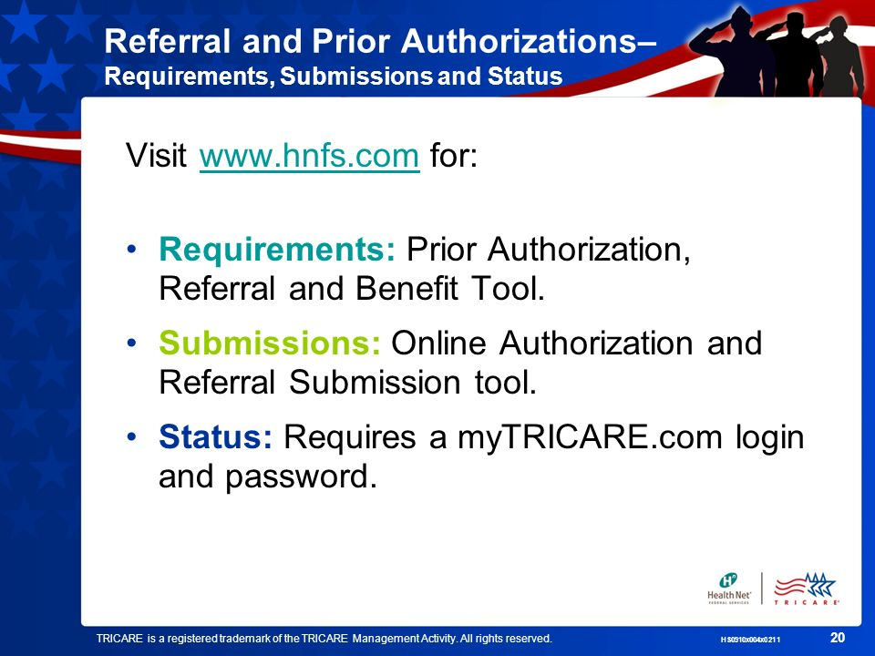 Requirements: Prior Authorization, Referral and Benefit Tool.