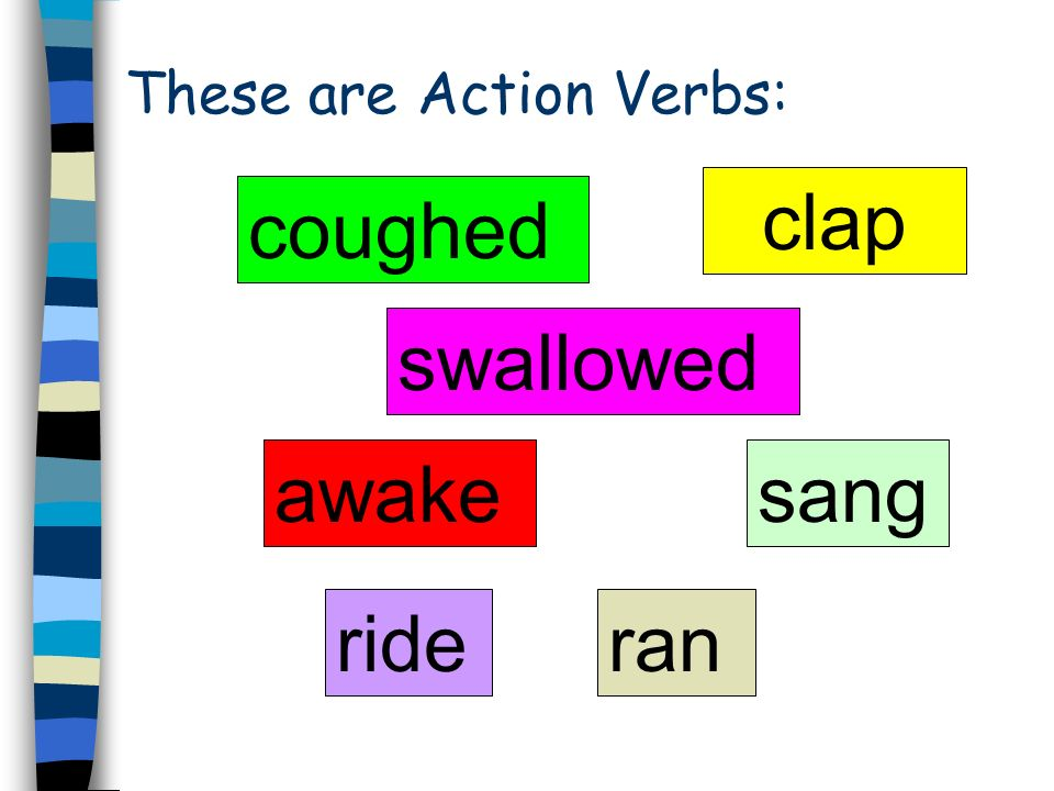 These are Action Verbs: