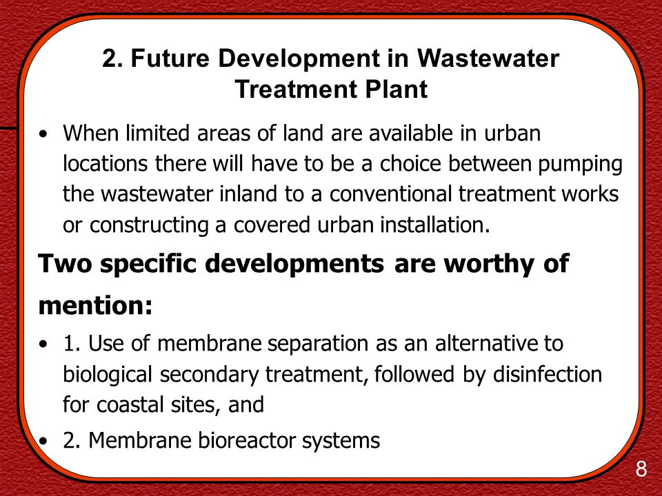 2. Future Development in Wastewater Treatment Plant