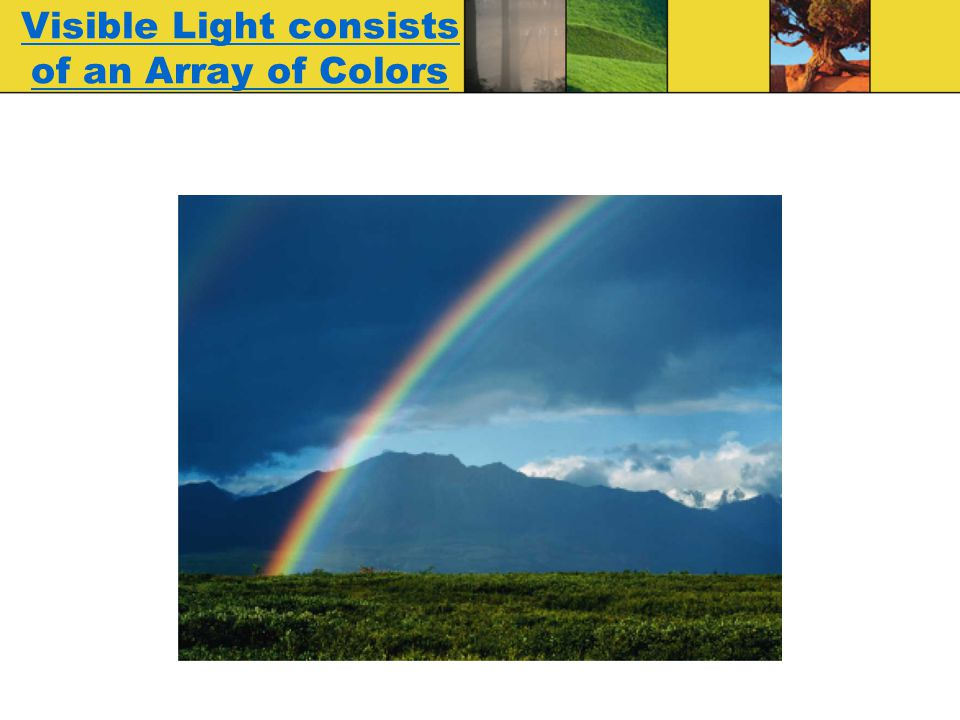 Visible Light consists of an Array of Colors