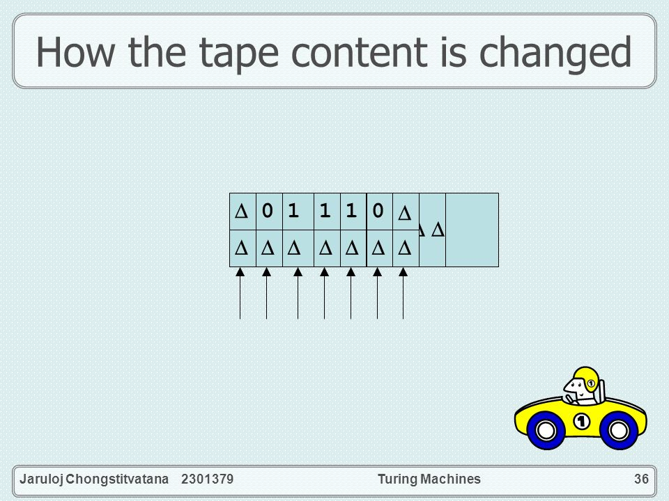 How the tape content is changed