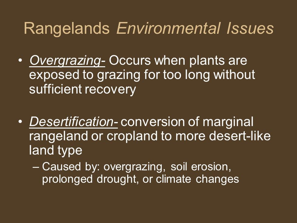 Rangelands Environmental Issues