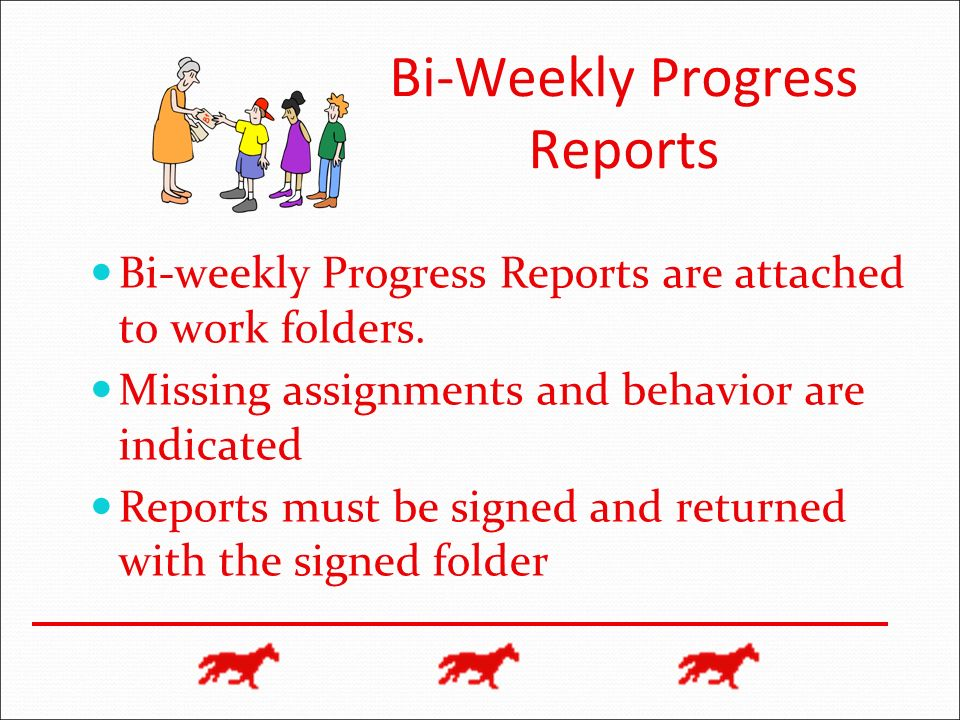 Bi-Weekly Progress Reports
