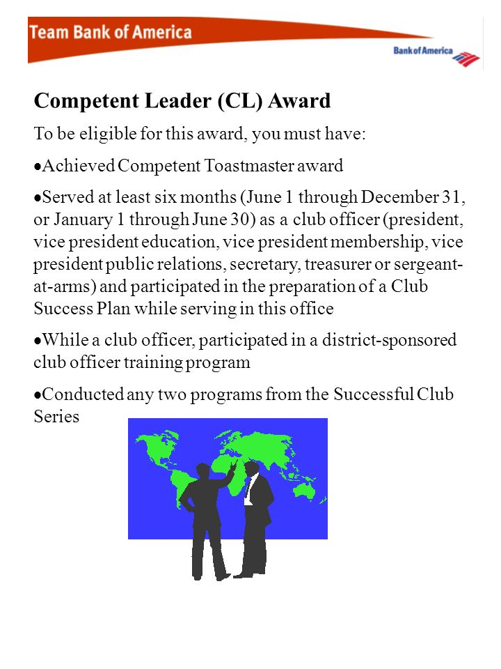 Competent Leader (CL) Award