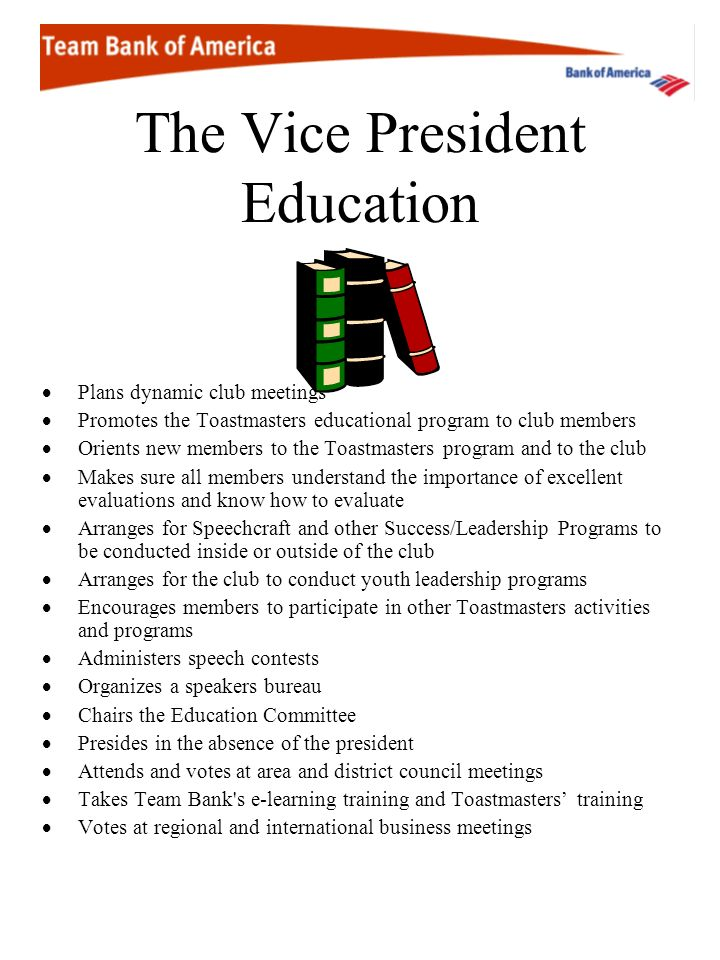 The Vice President Education