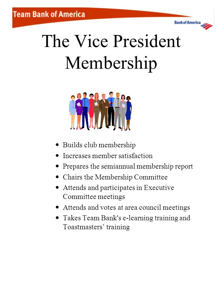 The Vice President Membership