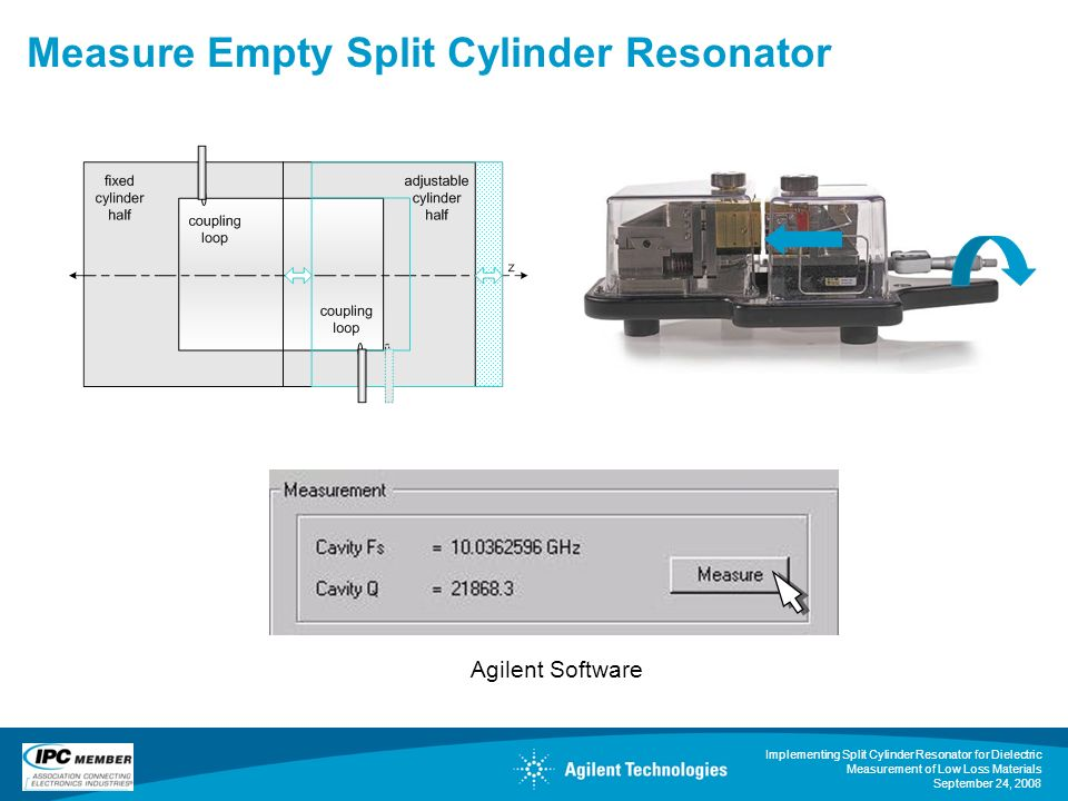 Measure Empty Split Cylinder Resonator