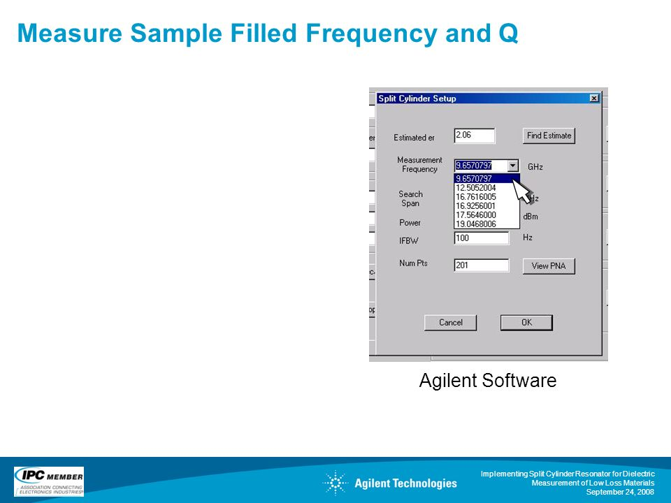 Measure Sample Filled Frequency and Q