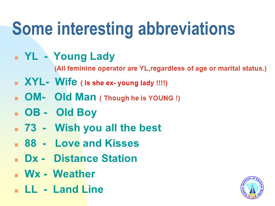 Some interesting abbreviations