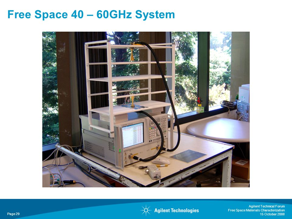 Free Space 40 – 60GHz System Agilent Technical Forum