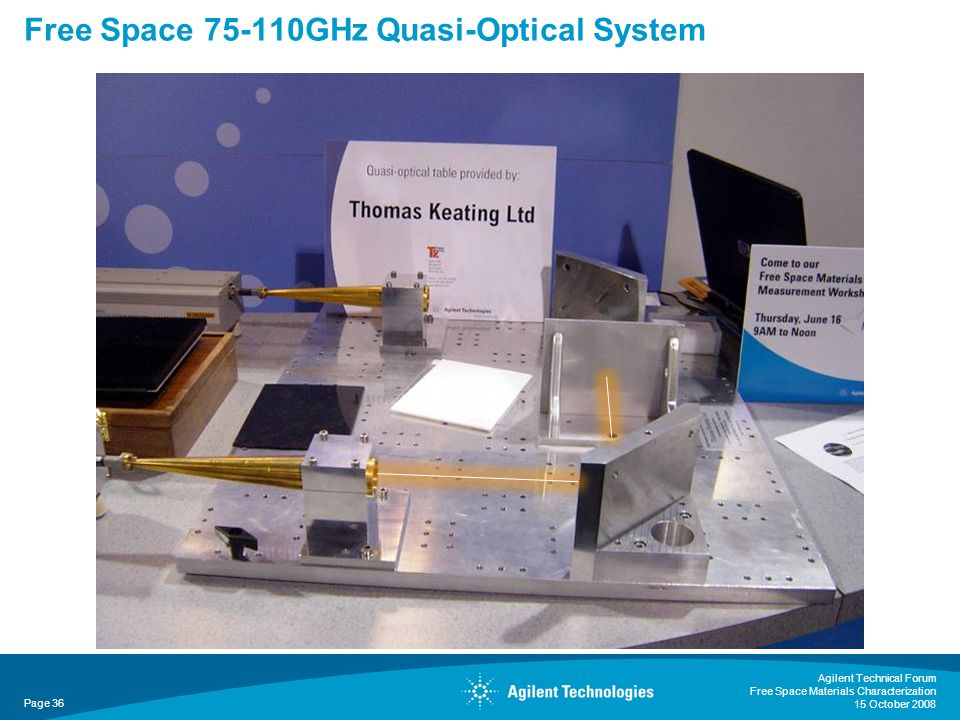 Free Space GHz Quasi-Optical System