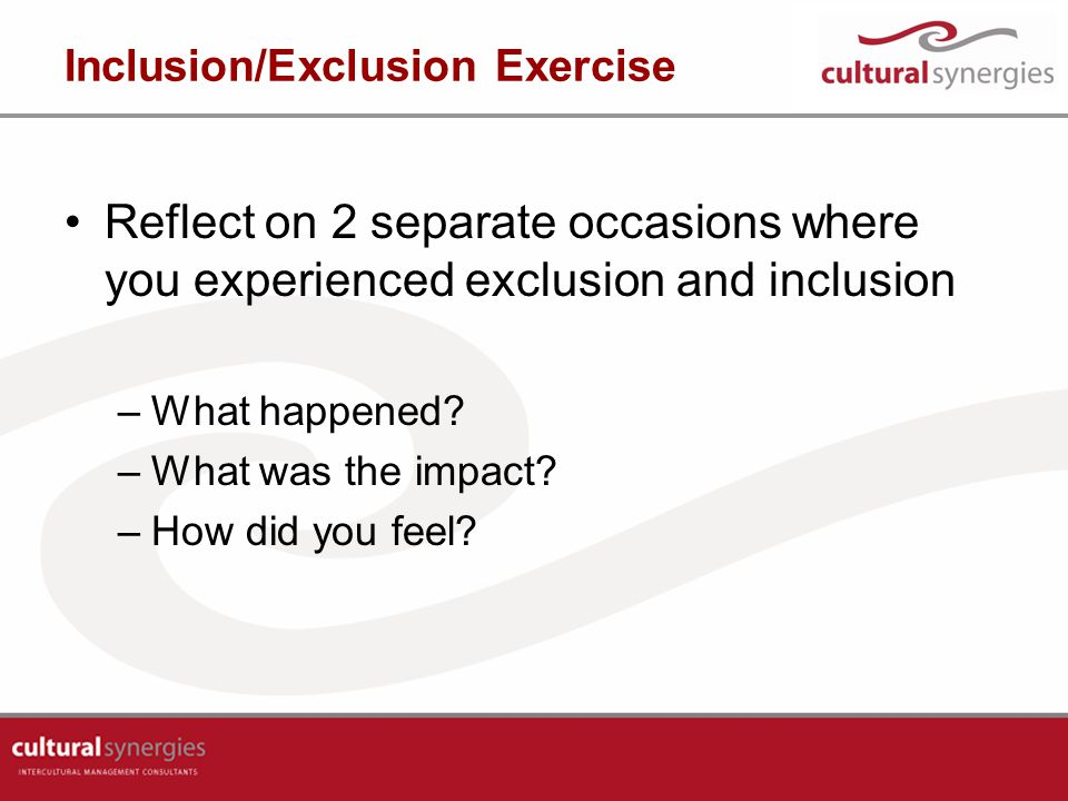Inclusion/Exclusion Exercise