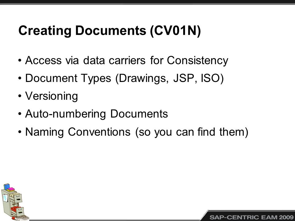 Creating Documents (CV01N)