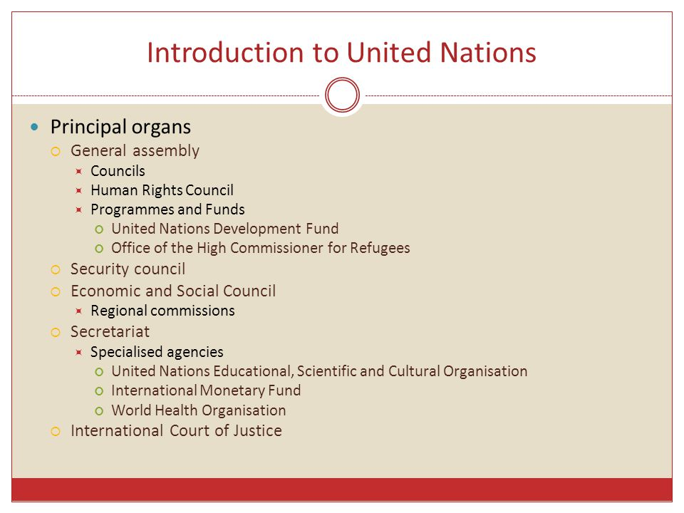 Introduction to United Nations