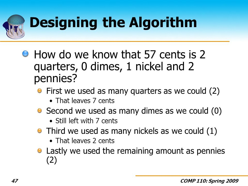 Designing the Algorithm