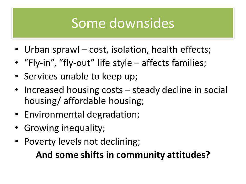 And some shifts in community attitudes