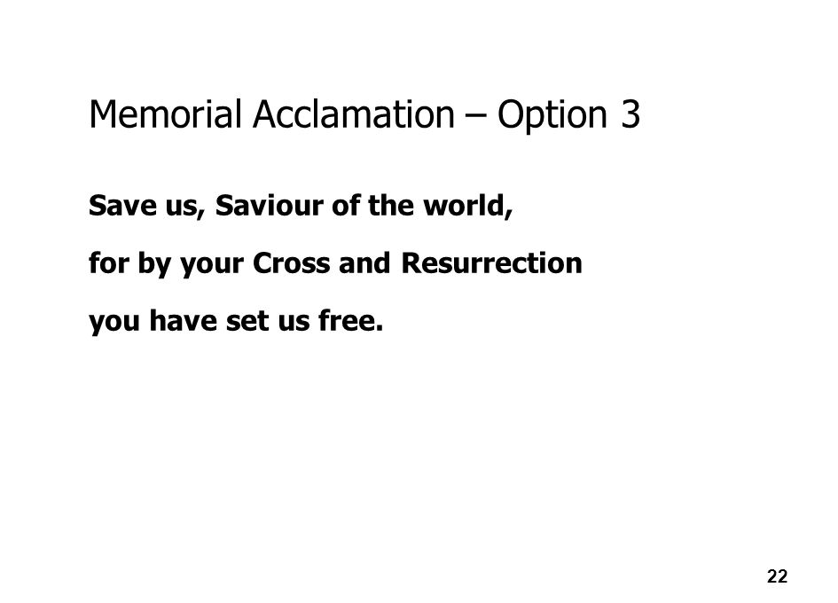 Memorial Acclamation – Option 3