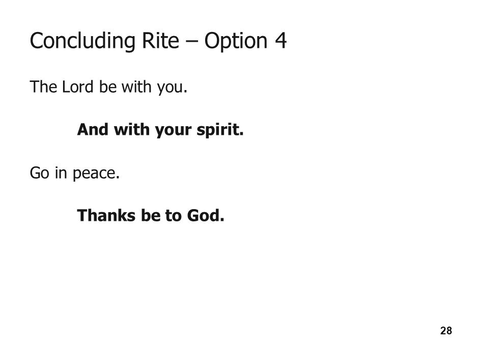 Concluding Rite – Option 4