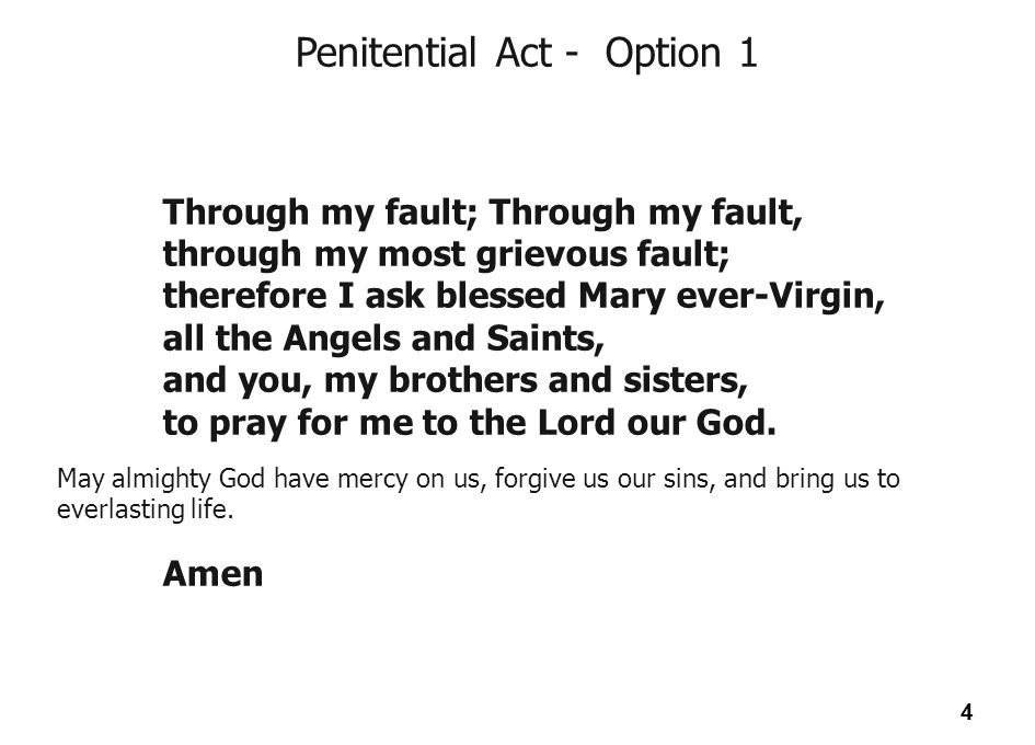 Penitential Act - Option 1
