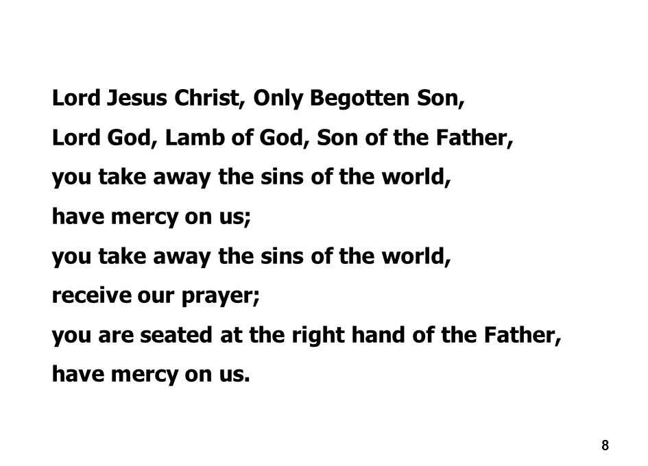 Lord Jesus Christ, Only Begotten Son,