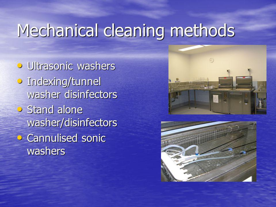 Mechanical cleaning methods