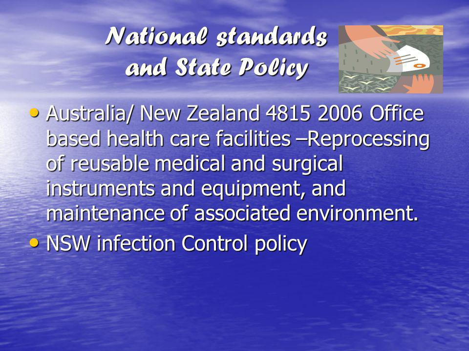 National standards and State Policy