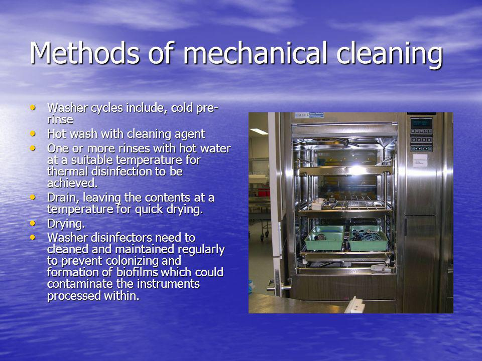 Methods of mechanical cleaning