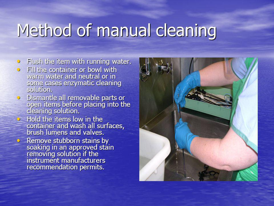 Method of manual cleaning