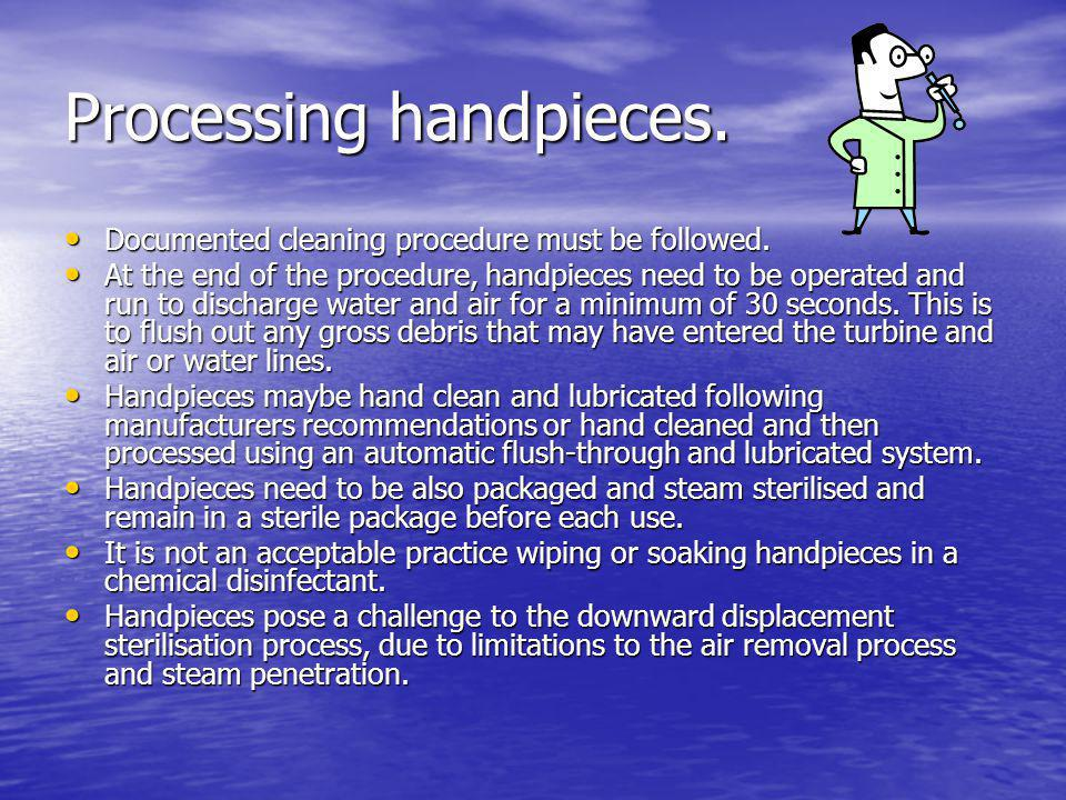 Processing handpieces.